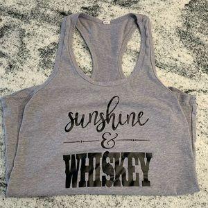Sunshine & Whisky tank top
